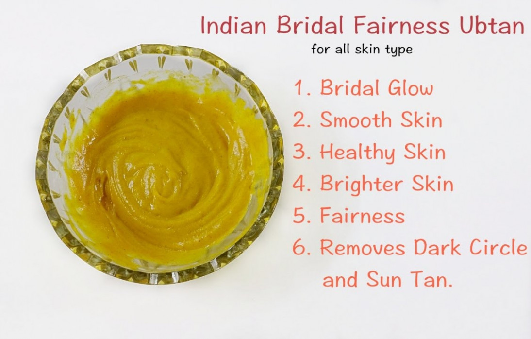 Indian Bridal Ubtan for Fairness and Glowing Skin #DIY ...