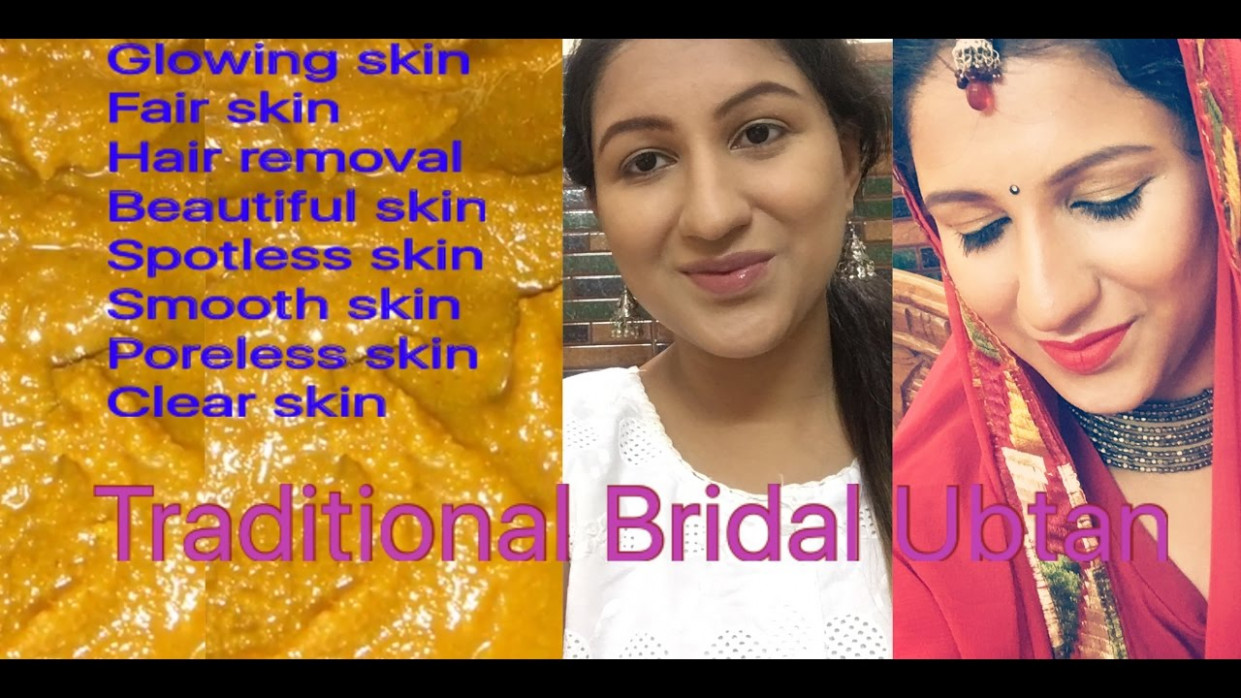 Indian Bridal Ubtan for Fairness and glowing skin/ Skin ...
