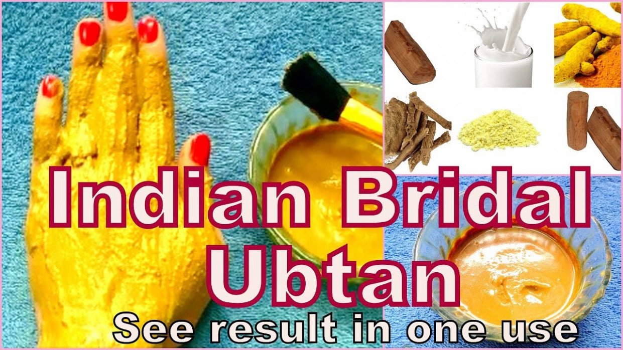 indian Bridal Ubtan For Instant Fairness,Clear & Glowing ...
