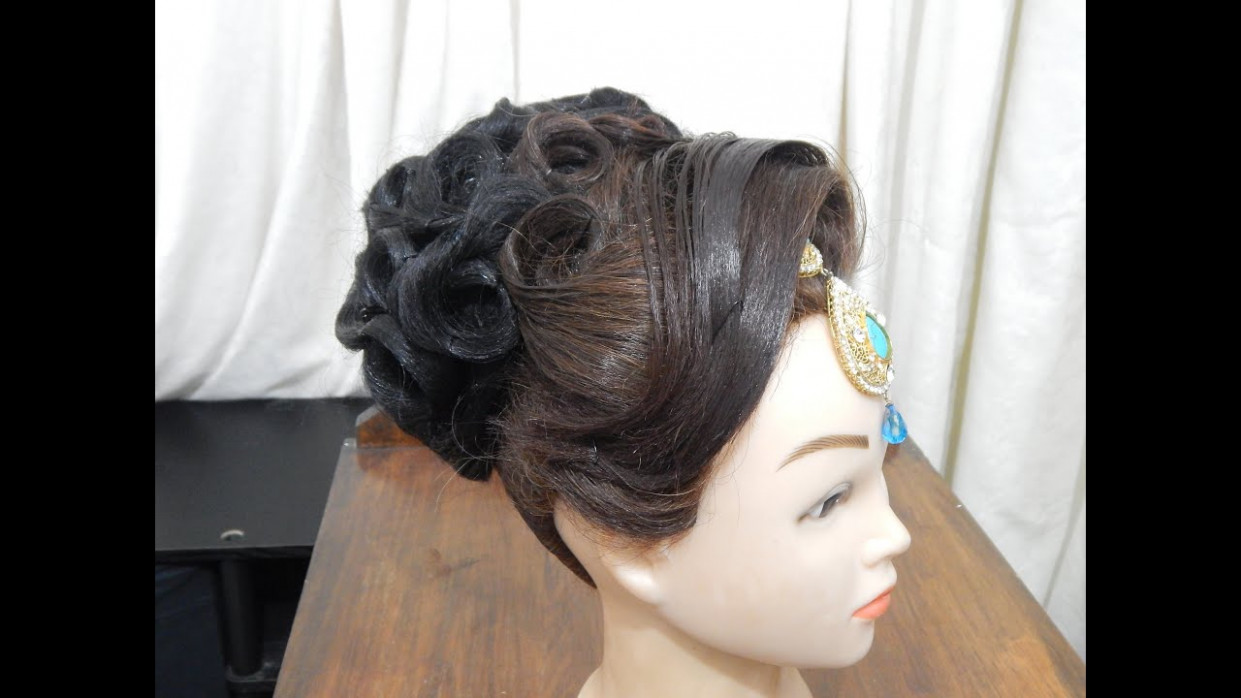 Indian Bridal Updo Hairstyles Videos | hairstylegalleries.com