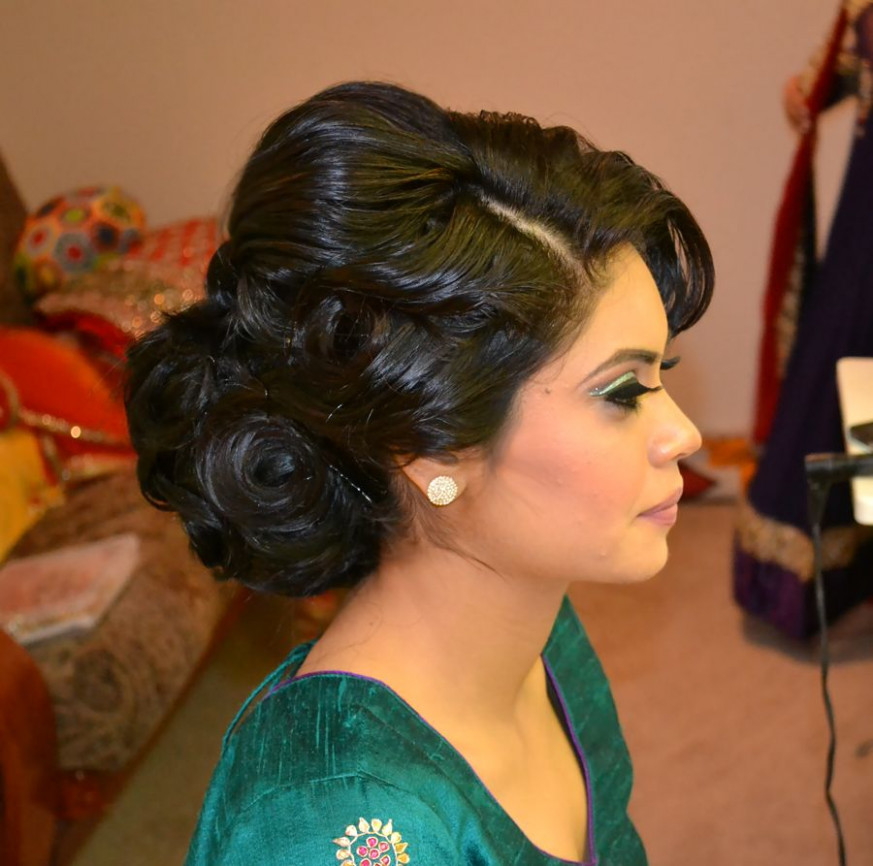 Indian Bridal Updos For Long Hair | Fade Haircut