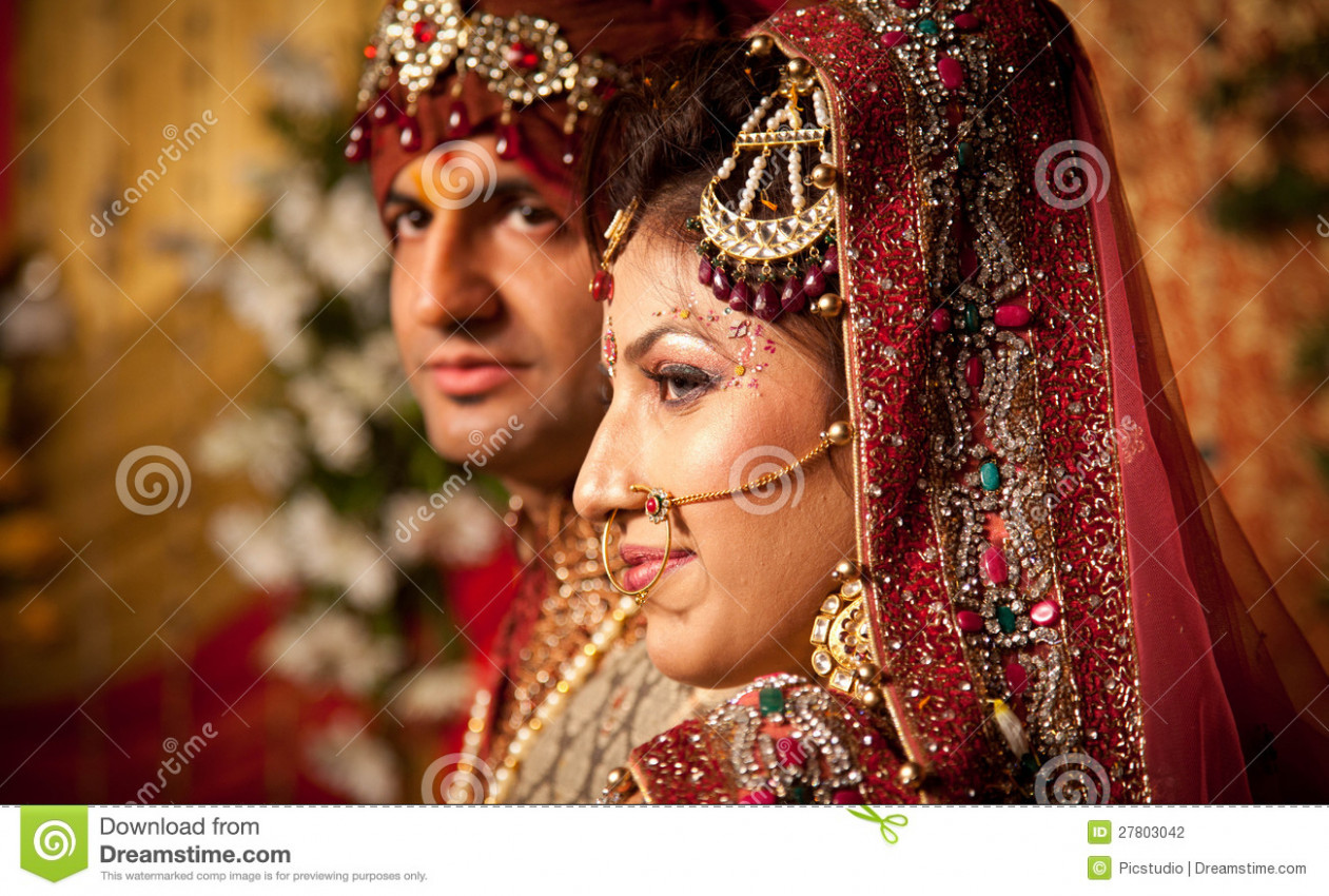 Indian Bride And Groom Stock Photography - Image: 27803042