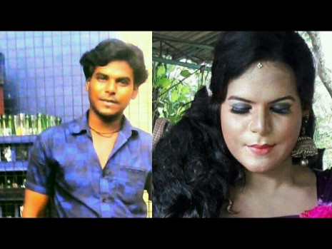 Indian Cross dresser | Indian boy to girl Transformation ...