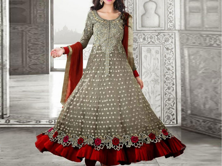 Indian Embroidered Chiffon Frock Price in Pakistan ...
