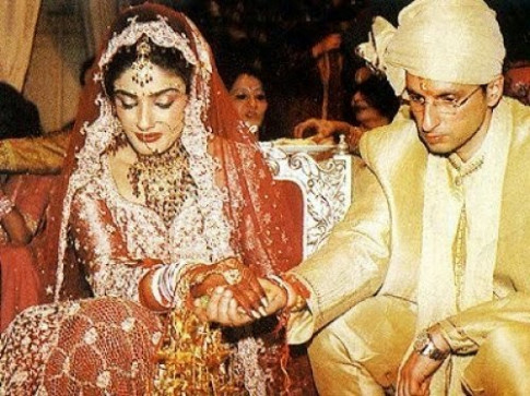 Indian Famous Actress Raveena Tandon Wedding Unseen ...