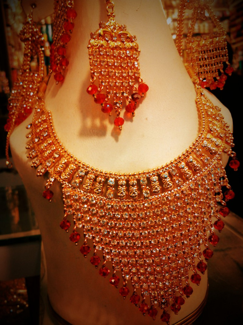 Indian Gold Plated Bridal Jewellery Set Price in Pakistan ...