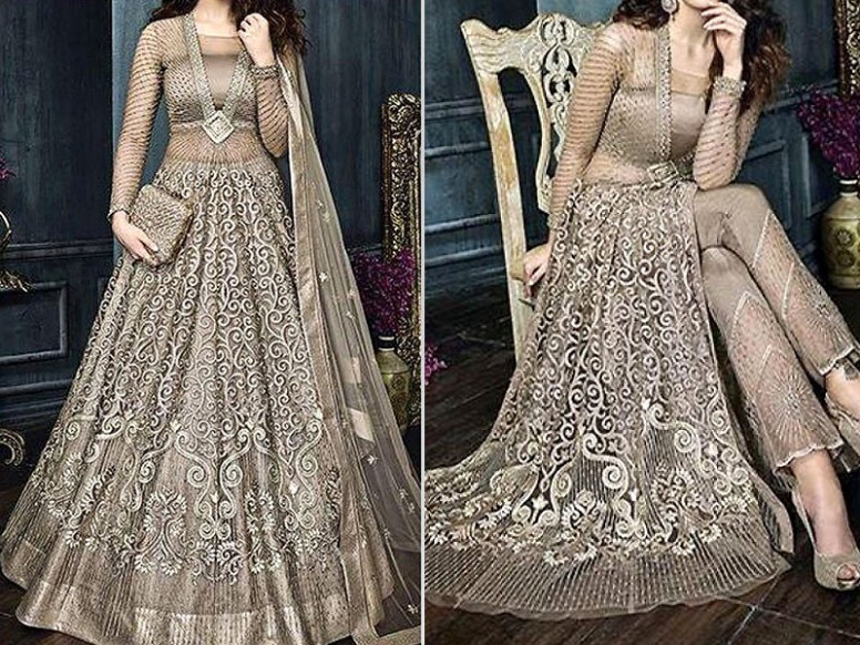 Indian Heavy Embroidered Net Bridal Maxi Price in Pakistan ...