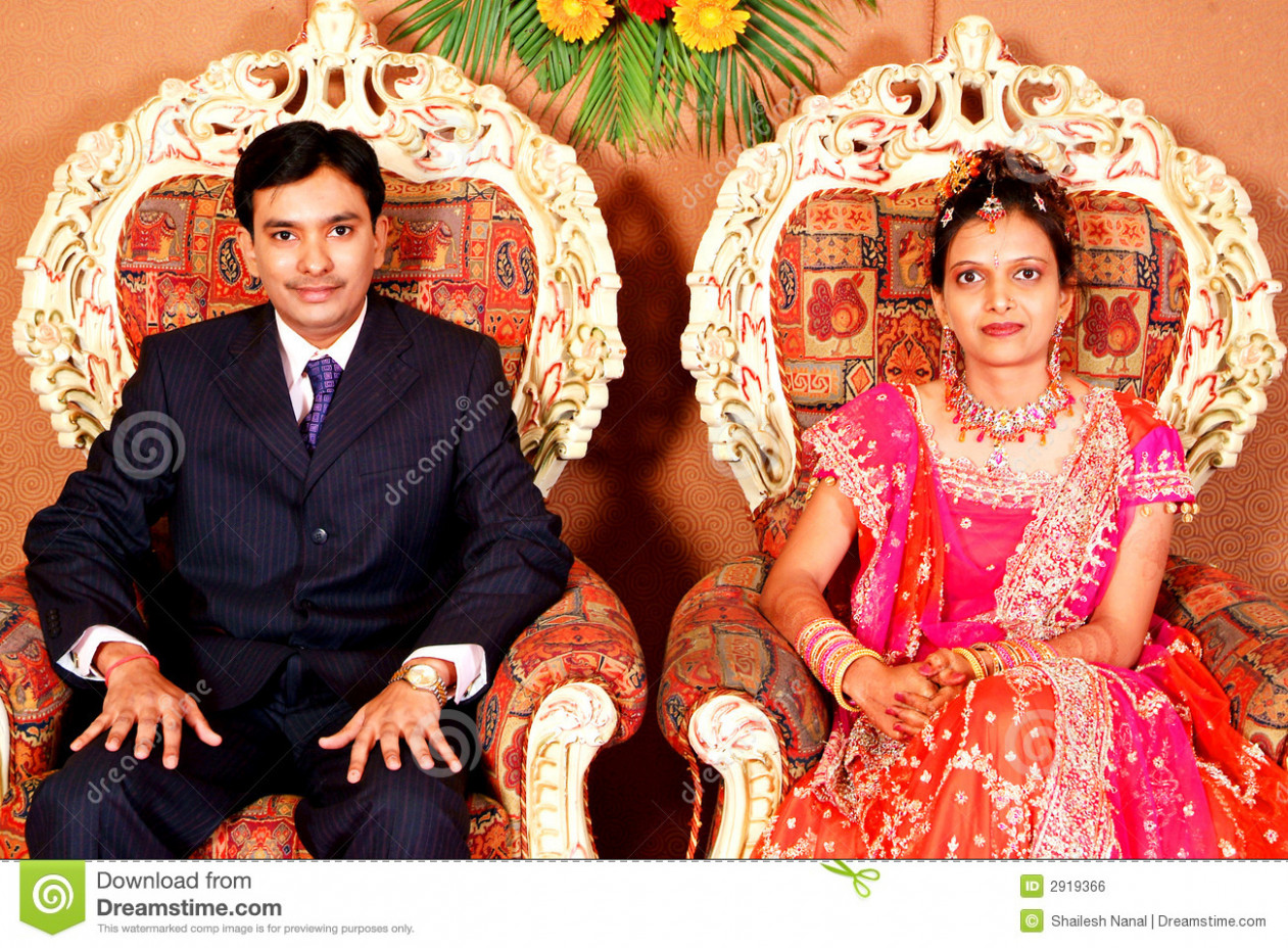 Indian Marriage Reception stock photo. Image of seated ...