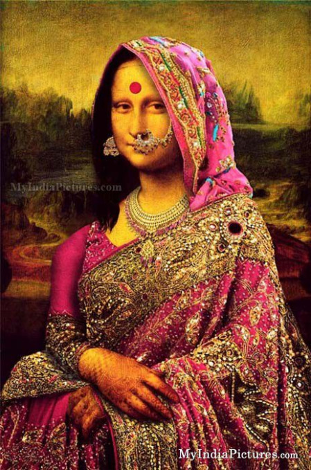 Indian Mona Lisa in Saree | Alter Art Alt | Pinterest ...