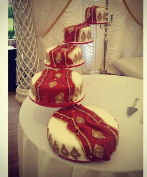 Indian Wedding Cakes Sari | www.imgkid.com - The Image Kid ..