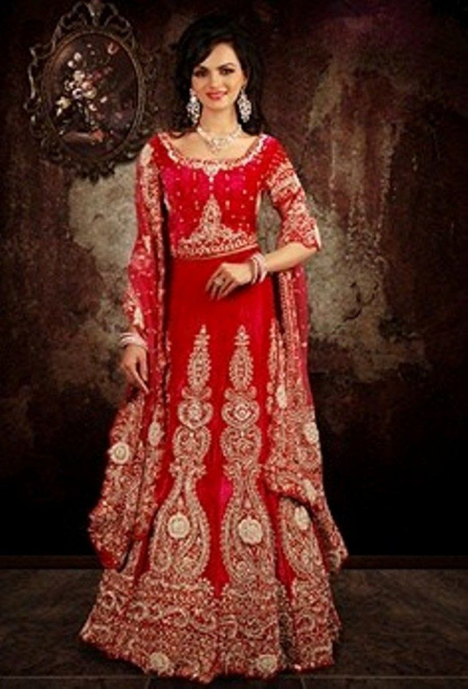 indian wedding dress 2 piece red - dweddingdress.com ...