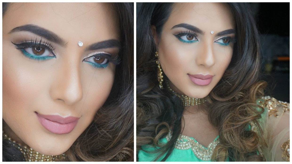 Indian Wedding Get Ready With Me / Bollywood Makeup ...