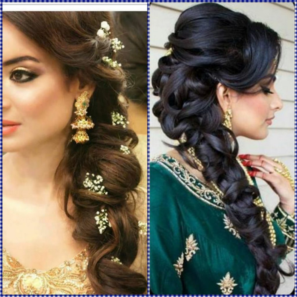Indian Wedding Hairstyles For Mid to Long Hair ...