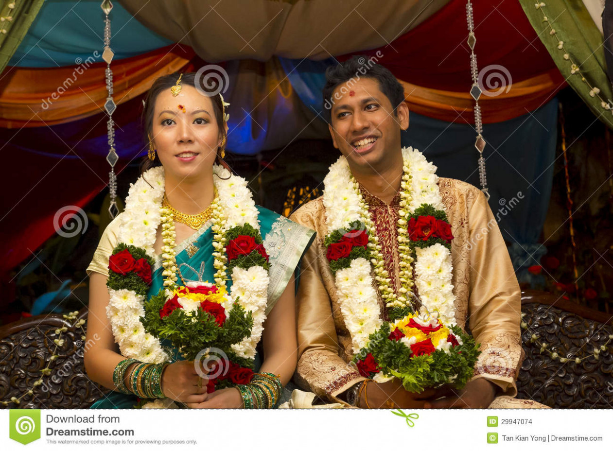 Interracial Indian Wedding stock photo. Image of cultural ...