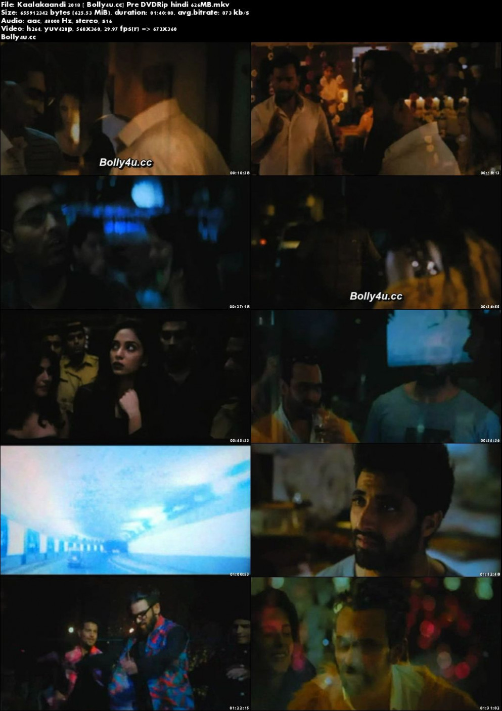 Kaalakaandi 2018 Pre DVDRip Full Hindi Movie Download x264