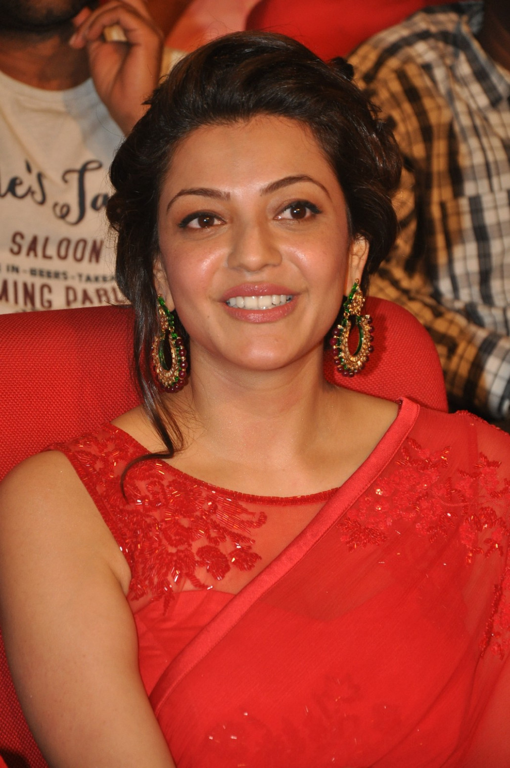 Kajal Agarwal Hot Looks In Beautiful Red Dress - Tollywood ...