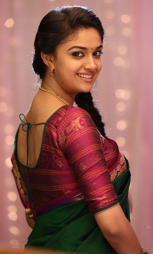 Keerthi Suresh Beautiful Photos in Sarees - Hollywood ...