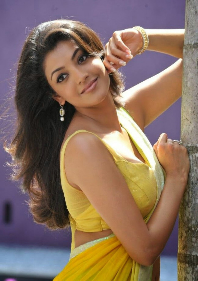 Kollywood Tollywood Actress Kajal Agarwal in Sleeveless ...