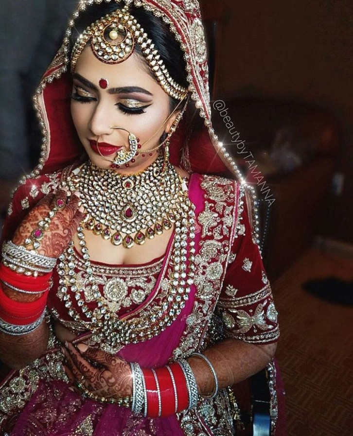 Kundan jewellery on an Indian bride #indian #weddings ...