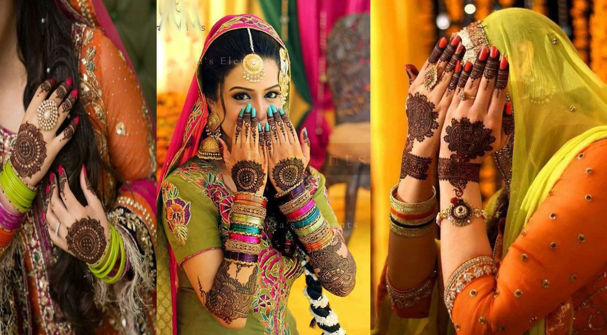 Latest bridal mehndi designs inspired by Bollywood 2018