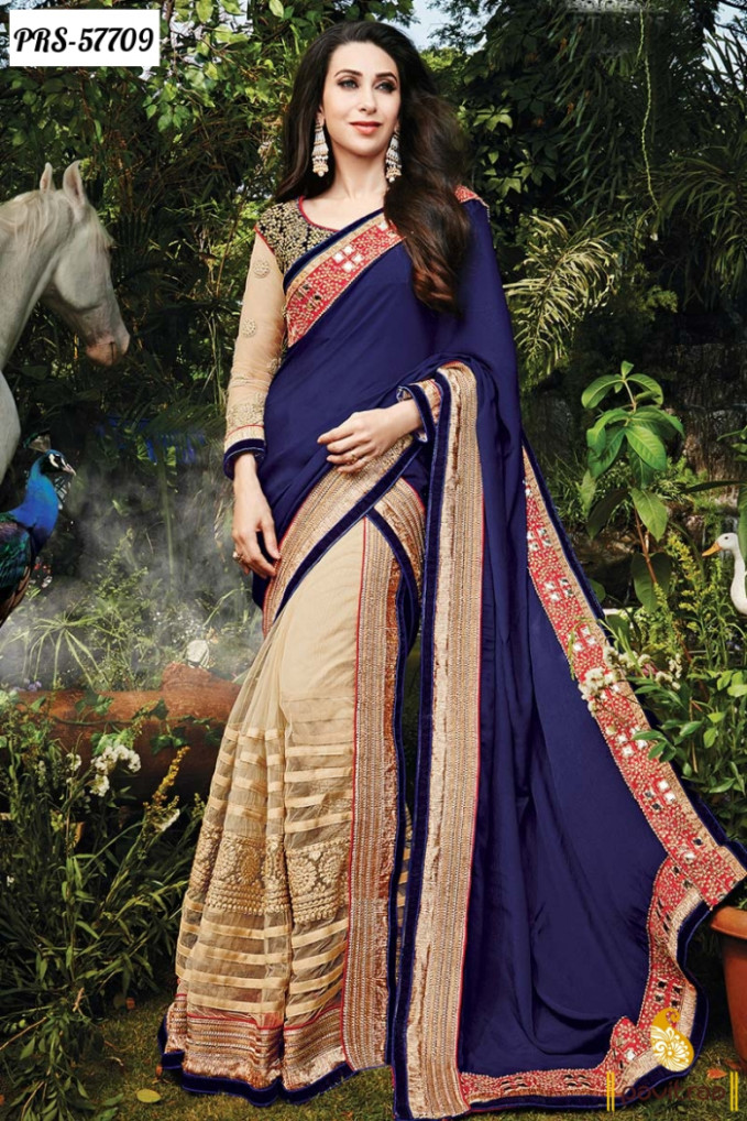 Latest Fashion Karishma Kapoor Designer Bollywood Sarees ...