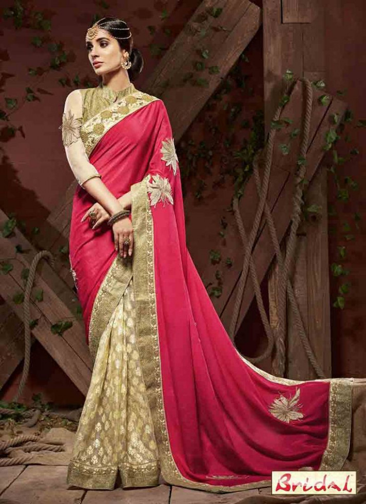 Latest Indian Bridal Wedding And Party Wear Sarees 2017 ...