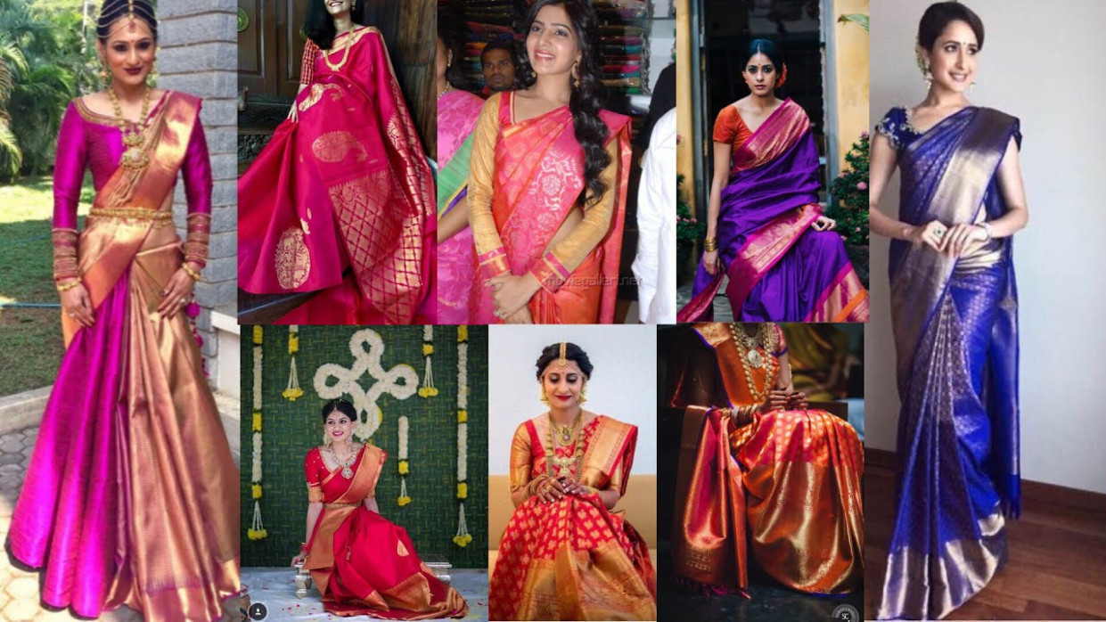 Latest Kanjivaram saree designs🎀 - YouTube