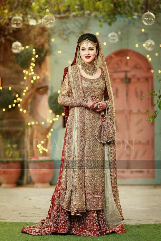 Latest Pakistani Bridal Lehenga Collection 2017-2018