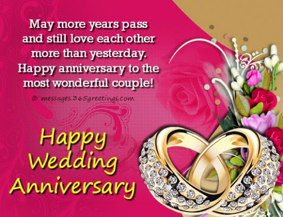 Marriage Anniversary SMS - 365greetings.com