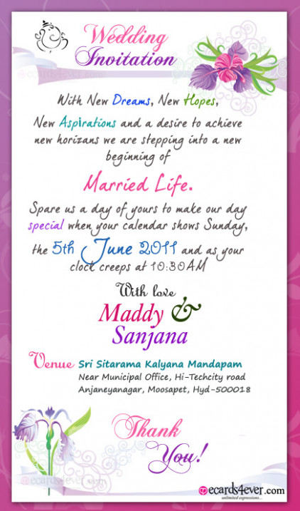 MARRIAGE QUOTES ON WEDDING INVITATION CARDS IN HINDI image ...