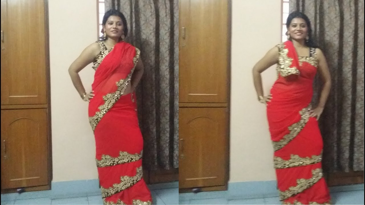 MUMTAZ style Bollywood saree drape, in 2 ways - YouTube