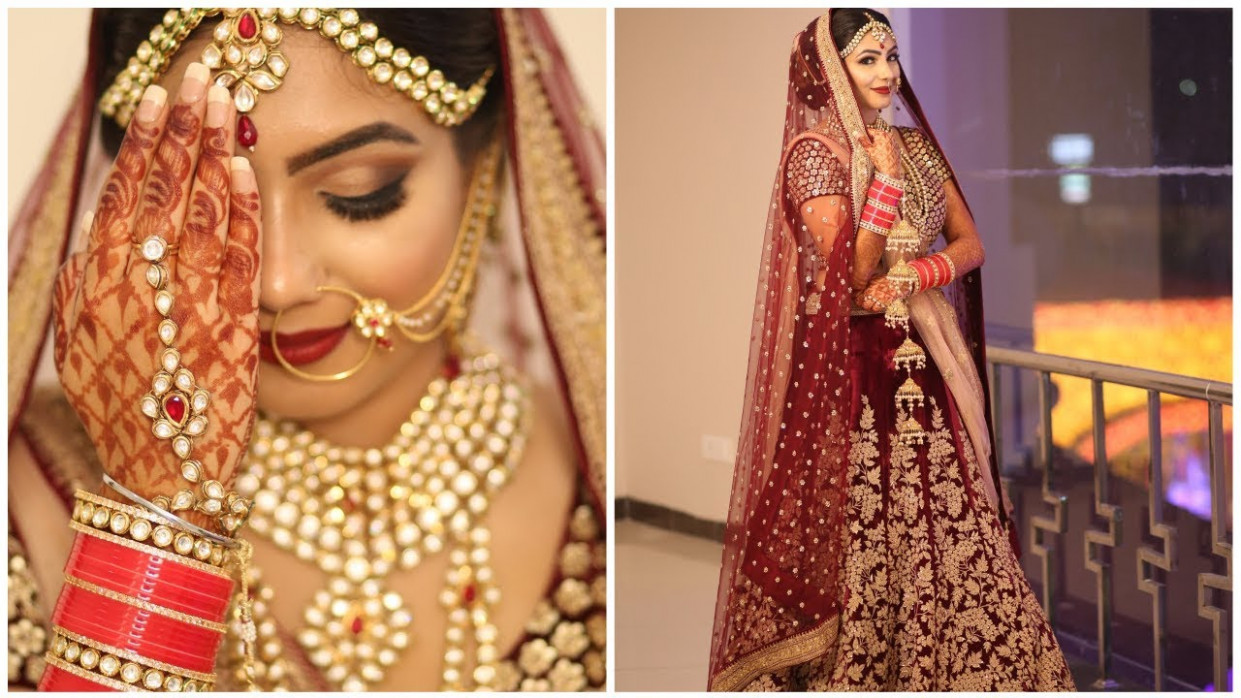 My INDIAN WEDDING Bridal Pictures - YouTube