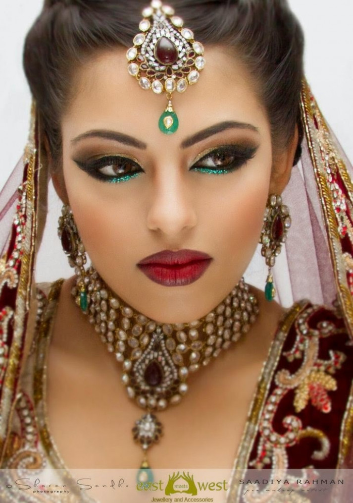 new bridal hair and makeup ideas - Just Bridal - bollywood bride make up
