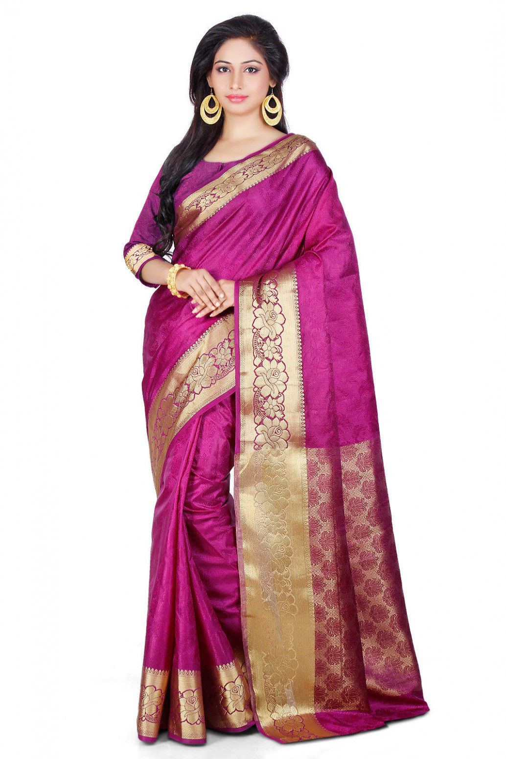 New Designer Bollywood Indian Traditional Kanjivaram Silk ...