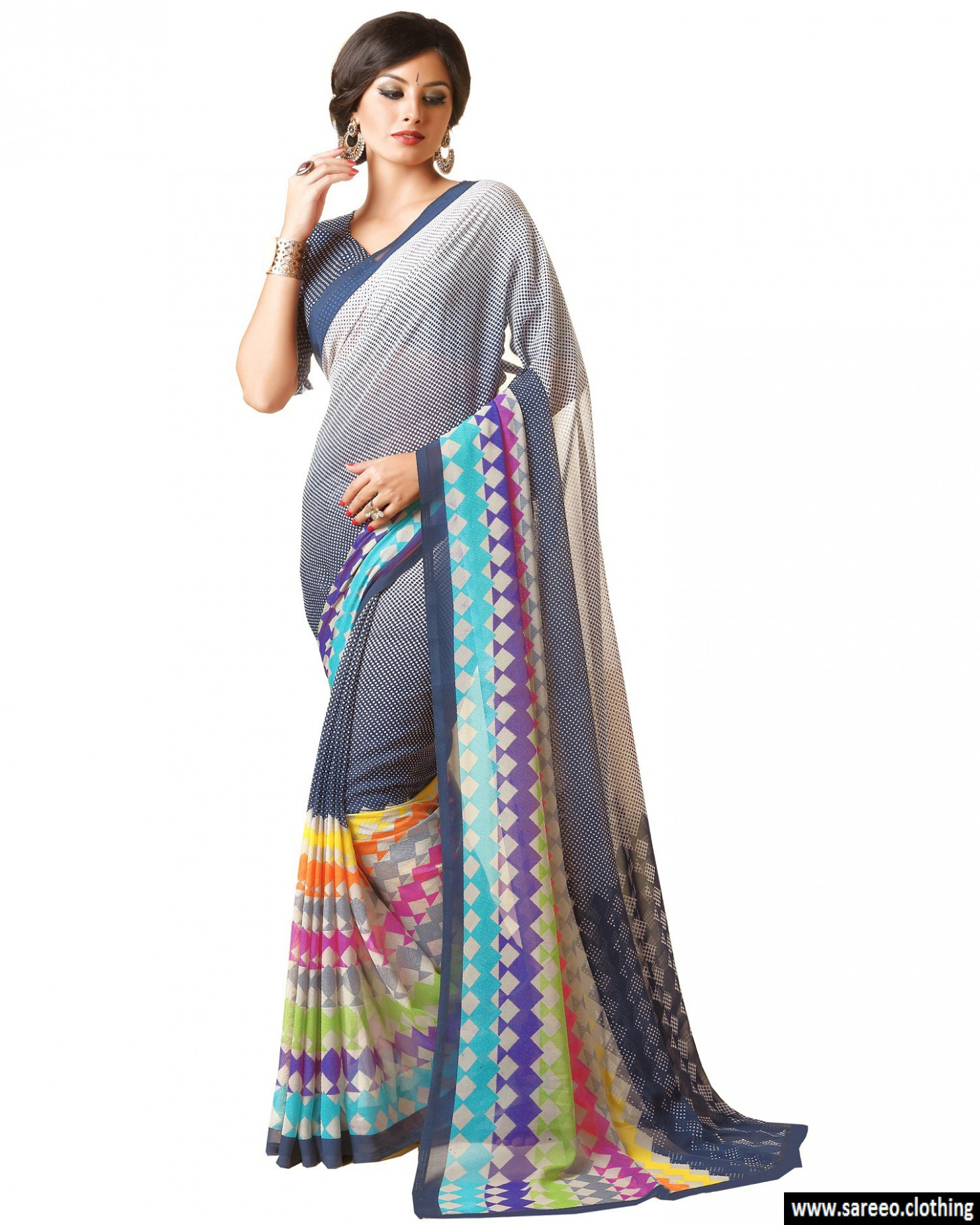 New Designer Grey Color Party Wear Bollywood Traditional ...