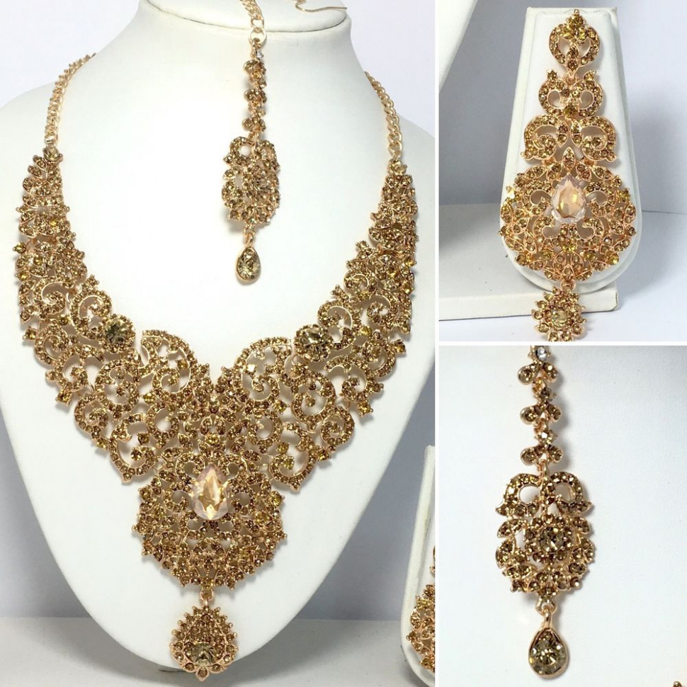 New Indian Bollywood Costume Jewellery Necklace Earring ...