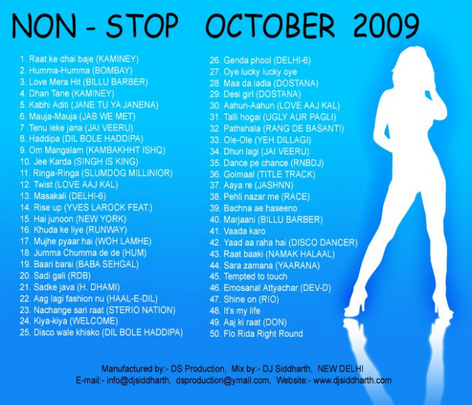 Non-Stop Mix (October-2009) DJ SIDDHARTH.mp3 Free mp3 ...