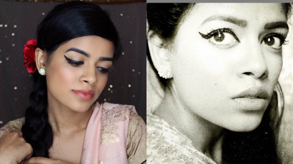 Old Bollywood Makeup and Hair - YouTube