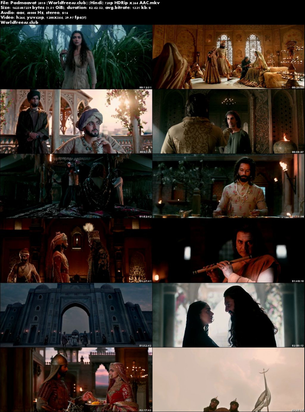 Padmaavat 2018 Full Hindi Movie Download HDRip 720p