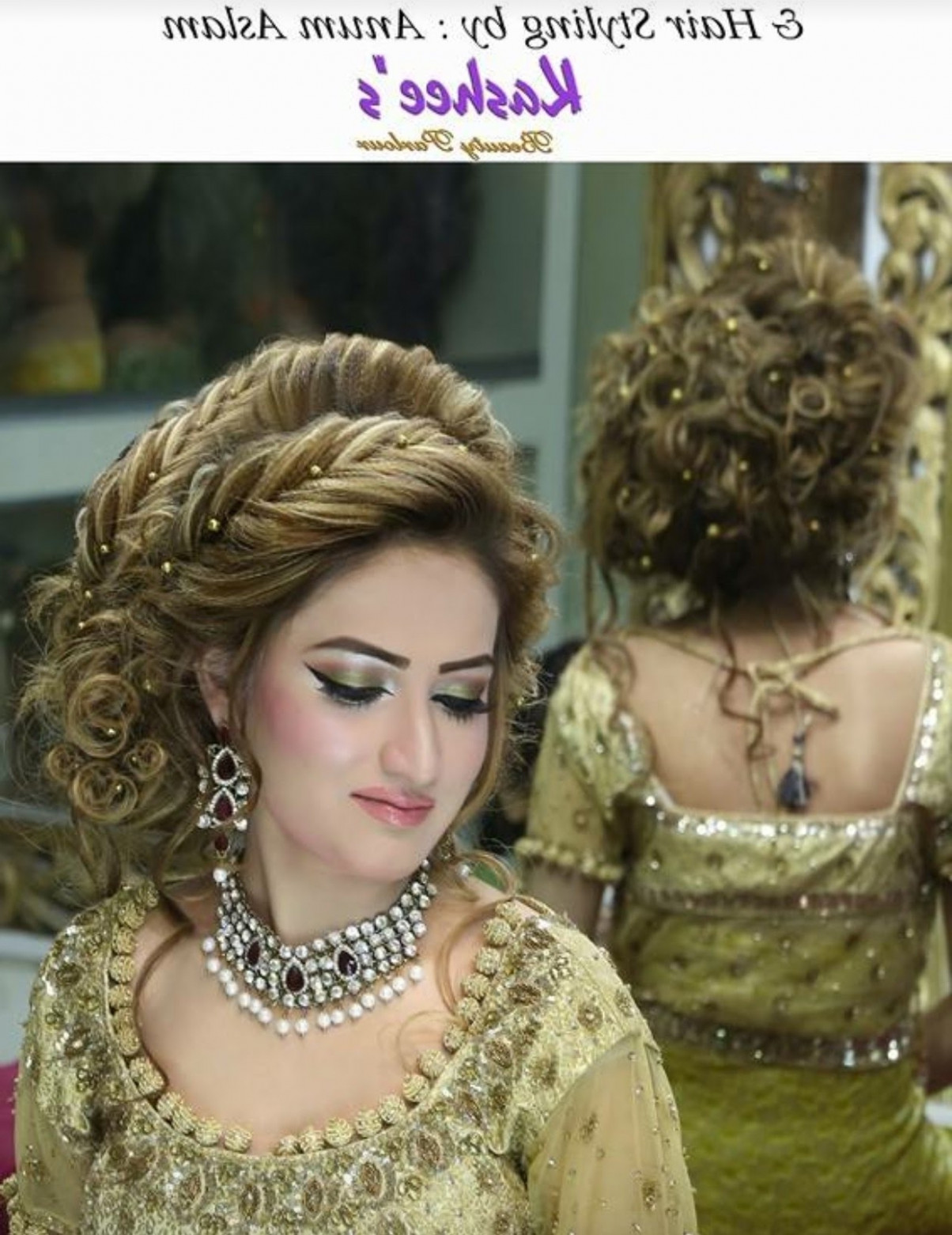 Pakistani Bridal Hairstyle Step By Step Full Tutorial ...