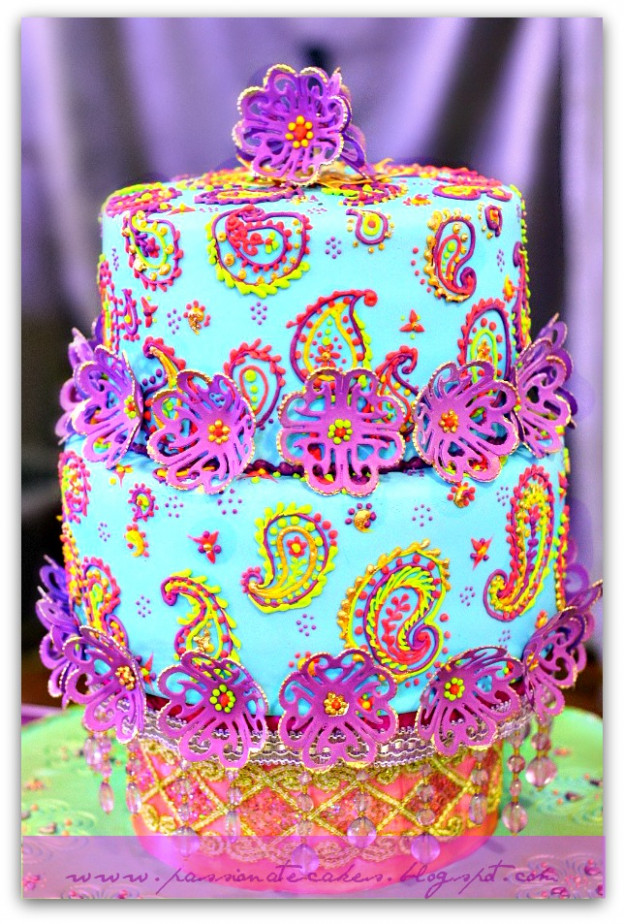 PassioNate Cakes : Vibrant Bollywood Wedding Cake...