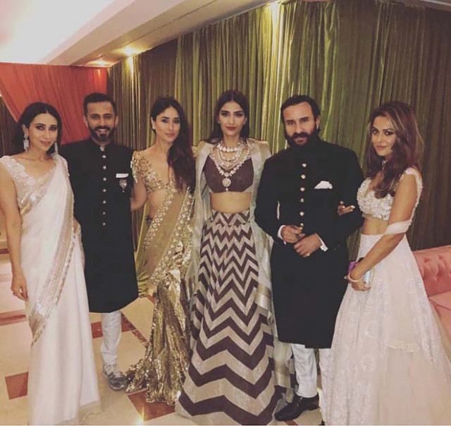 Photos : Sonam Kapoor & Anand Ahuja Wedding Reception ...