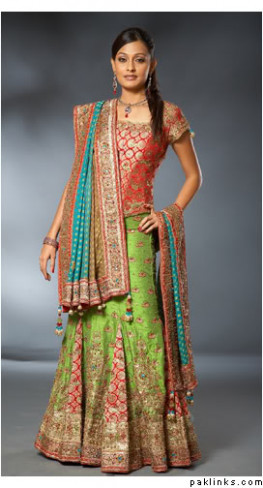 Pics For > Green Indian Bridal Wear