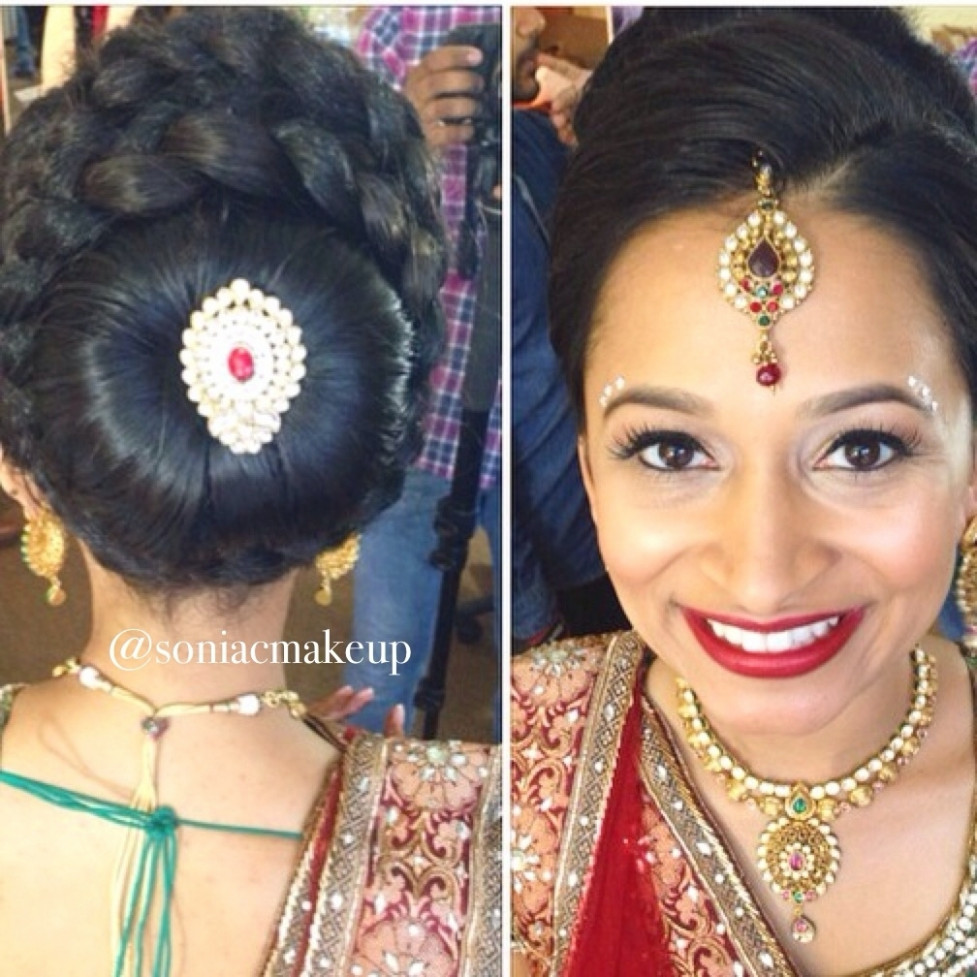 Punjabi Bridal Hairstyle For Round Face | Fade Haircut