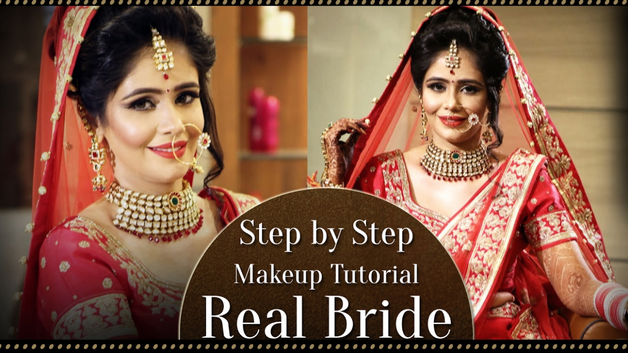Real Bride Make Up | Step By Step Indian Asian Bridal ...