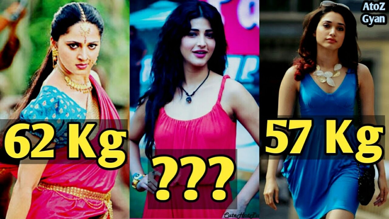 Really Shocking Weight Of Famous Tollywood Actresses 2017 ...