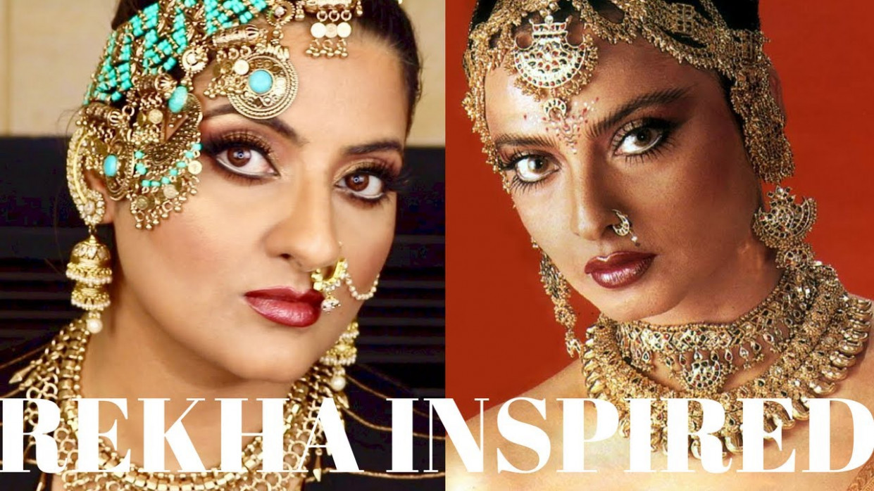 Rekha Inspired Old Bollywood Makeup Tutorial I Perfect for ...