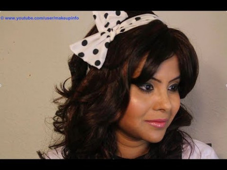 Retro Makeup - 70's Indian Bollywood style - YouTube