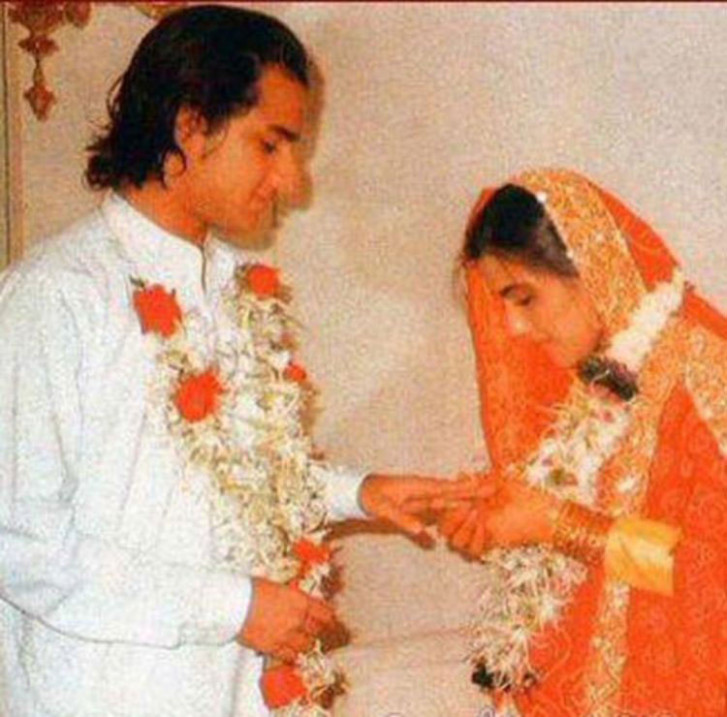 Saif married Amrita Singh in 1991 in an islamic ceremony.