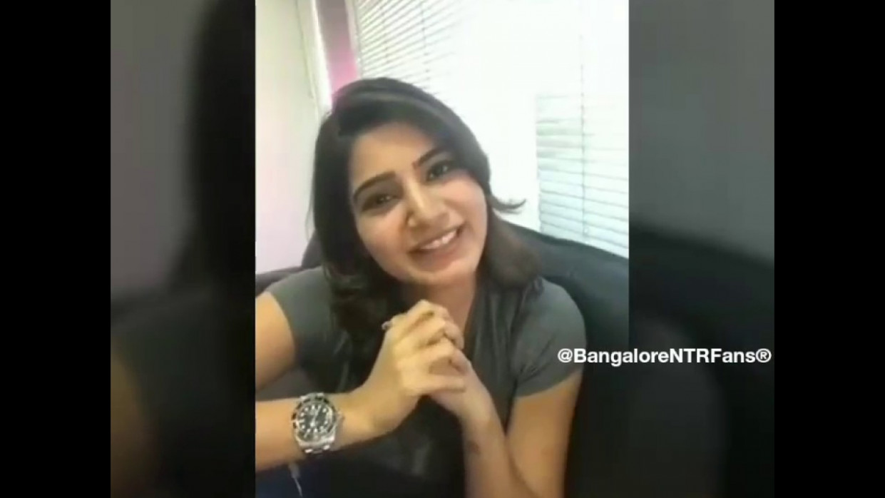 Samantha Says Jr NTR is Best Dancer In Tollywood.. - YouTube